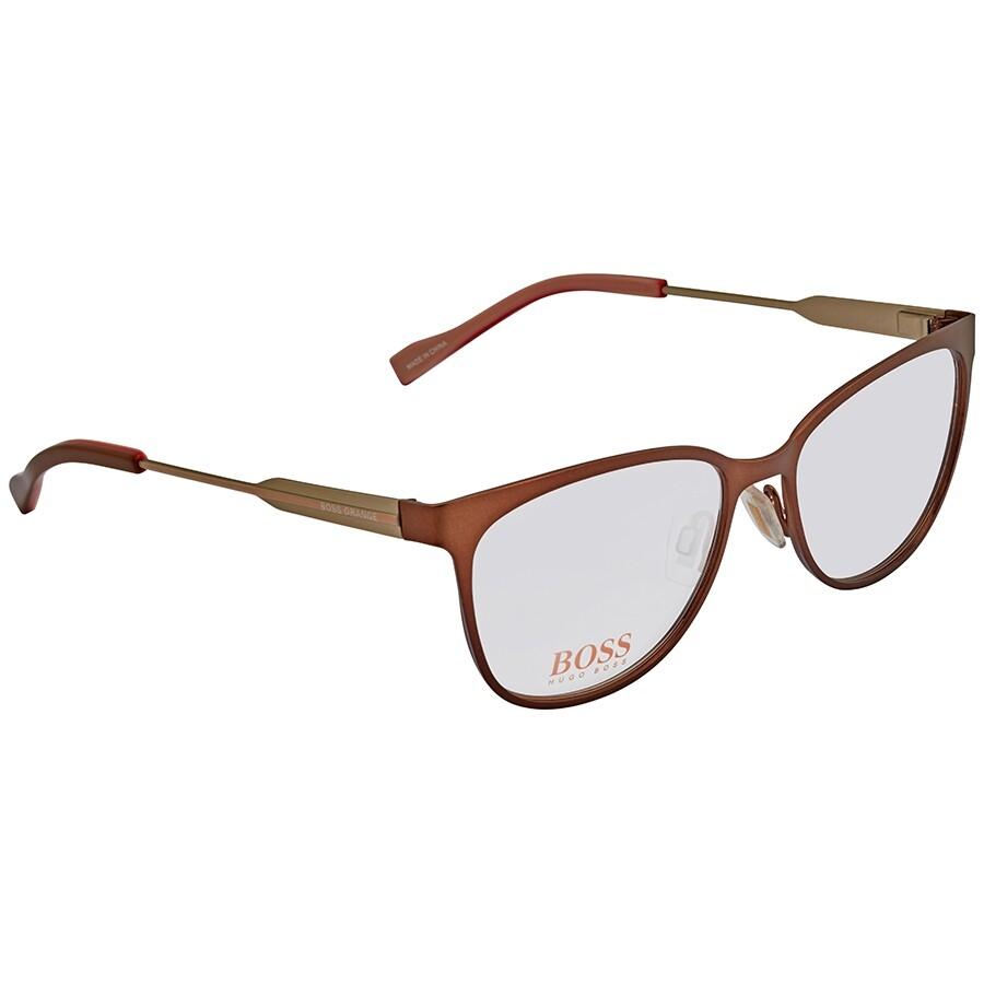 newest collection sale uk popular stores Hugo Boss Orange Brown Ladies Eyeglasses 0233-0LH2