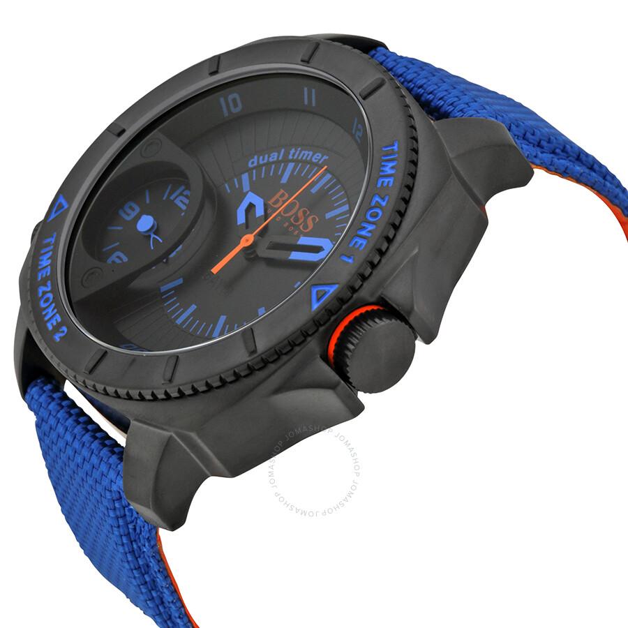 hugo boss orange series black dial blue nylon strap men s watch hugo boss orange series black dial blue nylon strap men s watch 1513209