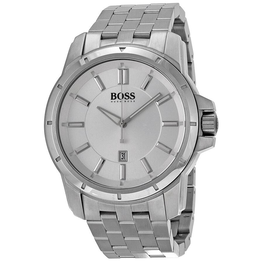 Hugo Boss Silver Dial Stainless Steel Men s Watch 1512925 - Hugo ... 7e6c878e5b61