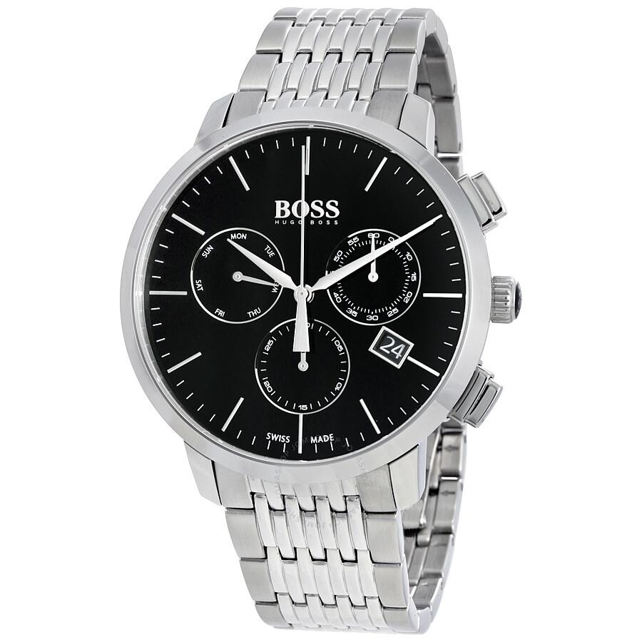 Hugo boss swiss made slim chronograph men 39 s watch 1513267 hugo boss watches jomashop for Hugo boss watches