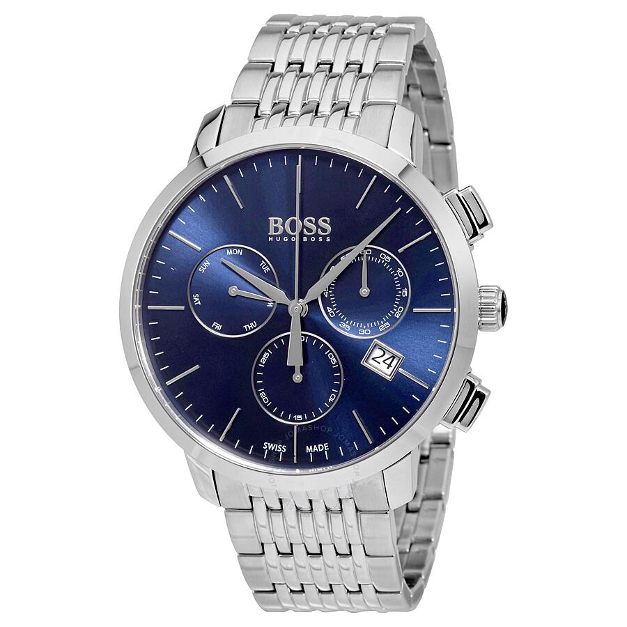 Hugo boss swiss made slim chronograph men 39 s watch 1513269 hugo boss watches jomashop for Hugo boss watches