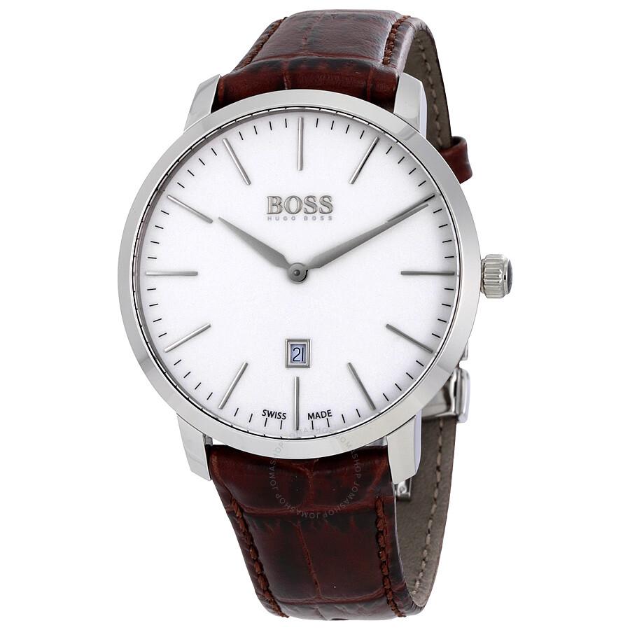 Hugo boss swiss made slim men 39 s watch 1513255 hugo boss watches jomashop for Hugo boss watches