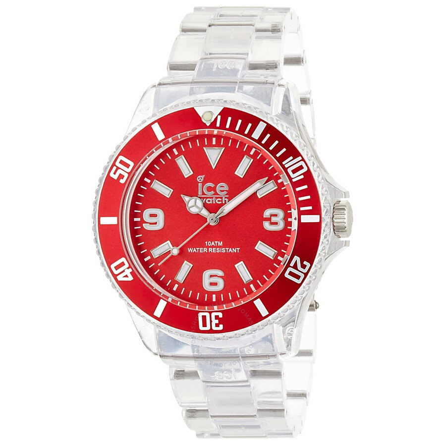 Ice Pure Red Dial Plastic Men's Watch PU RD B P 12