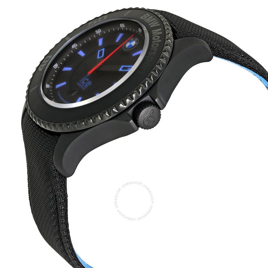 ice watch bmw motorsport black dial men 39 s 48 mm watch bm. Black Bedroom Furniture Sets. Home Design Ideas