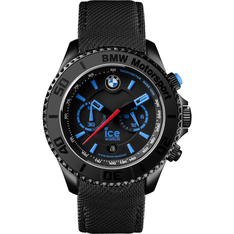 ice watch bmw motorsport chronograph 45 mm black dial men