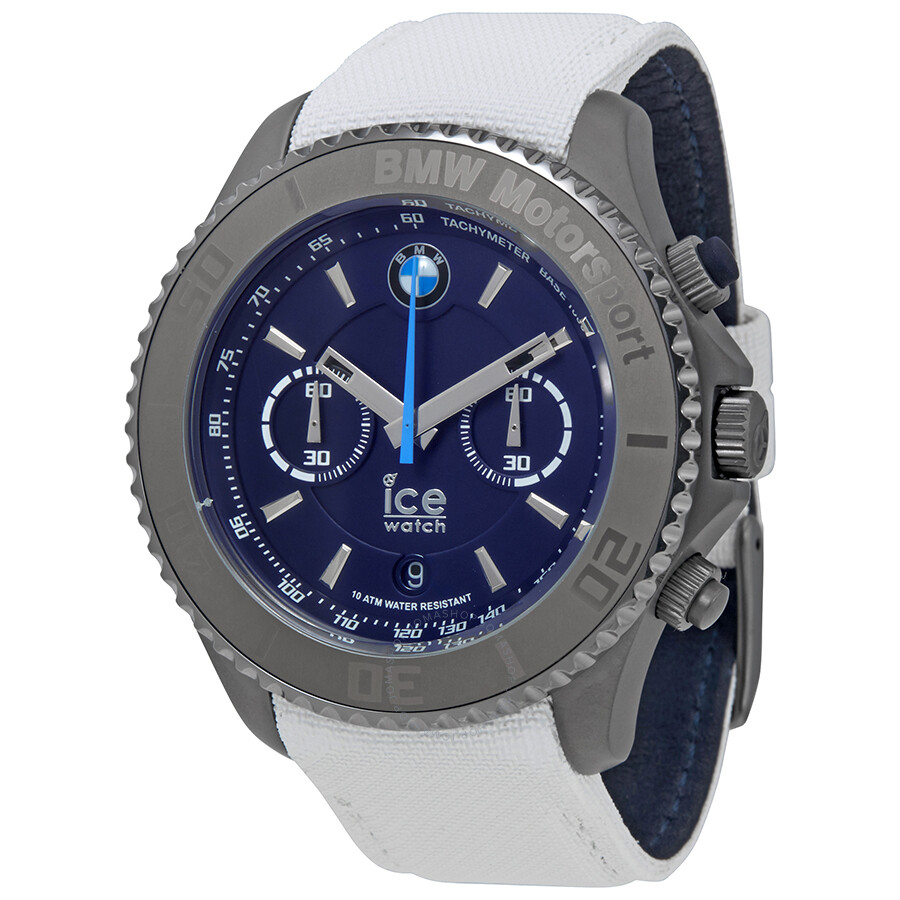 ice watch bmw motorsport xl 53 mm chronograph blue dial. Black Bedroom Furniture Sets. Home Design Ideas