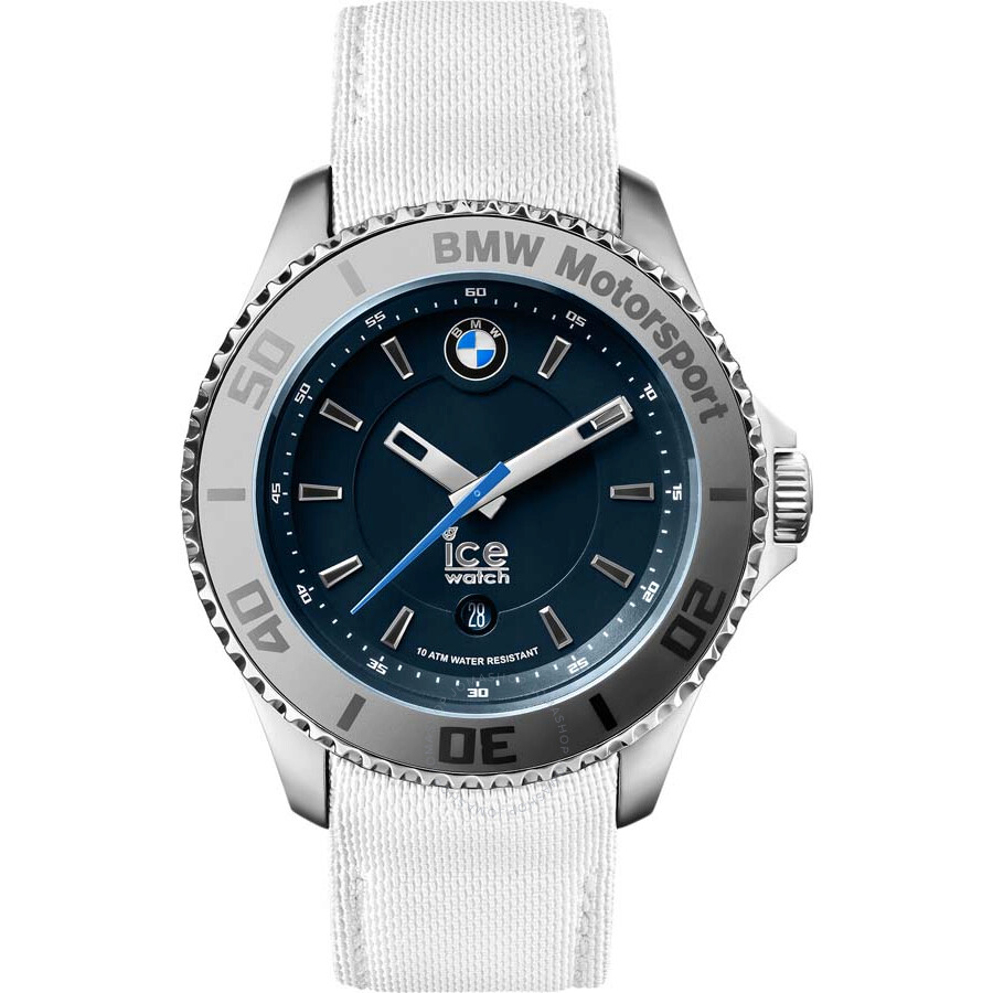 Ice-Watch BMW Motorsport Blue Dial White Leather Men's 43 ...