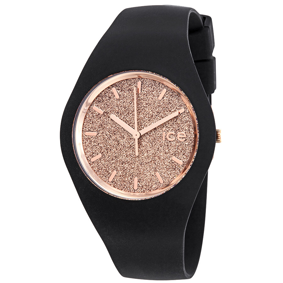 Ice-Watch Ice Glitter 40mm Rose Gold Glitter Dial Ladies Watch 001353 ... 07838922a341