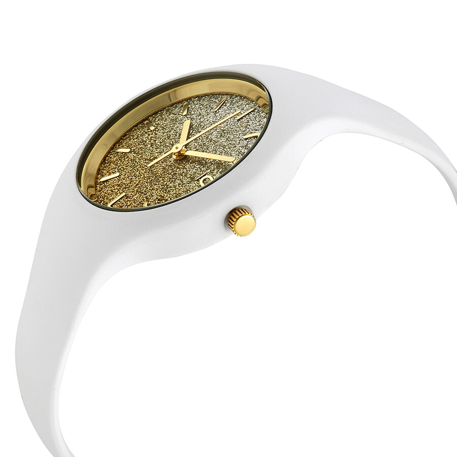 Ice watch lo 34 mm silver yellow gradient glitter dial ladies watch 013428 ice watch watches for Gradient dial watch