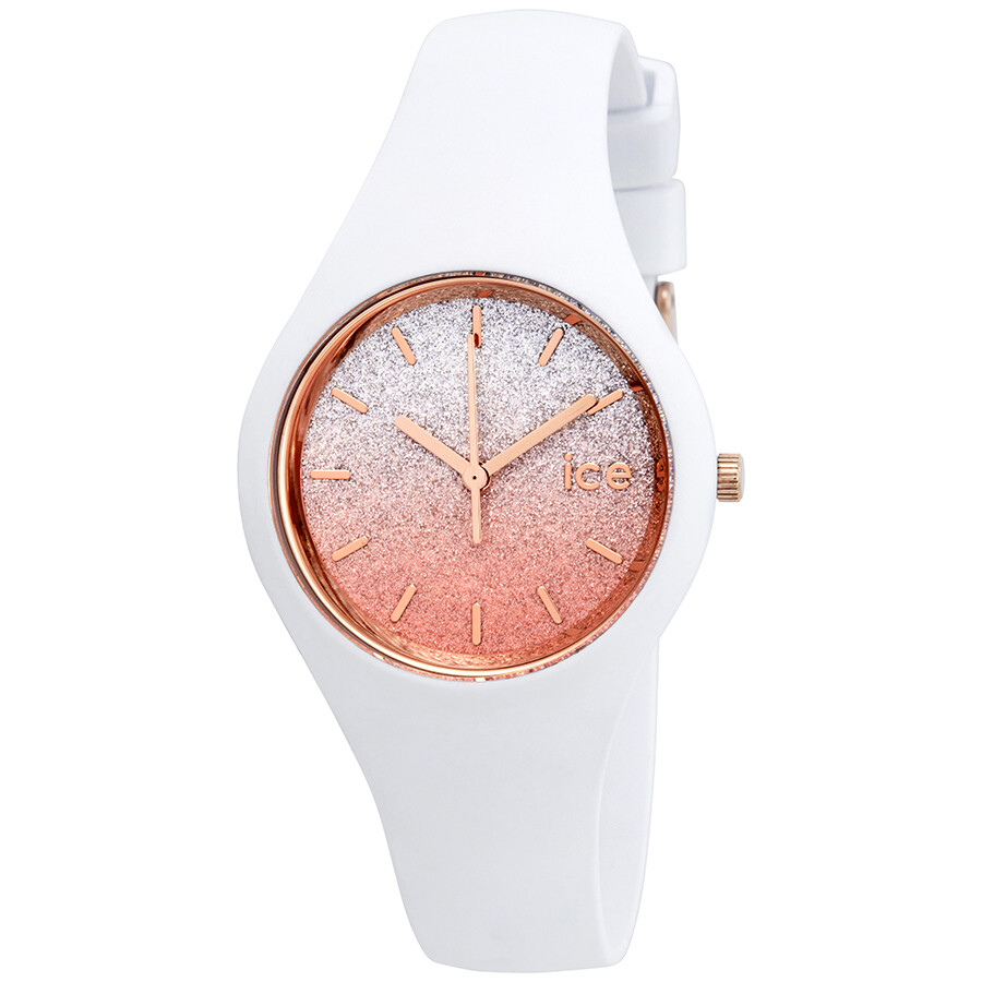 Ice-Watch Lo 34mm Pink Silver Gradient Glitter Dial Ladies Watch 013427 ... 66a6d5325fdd