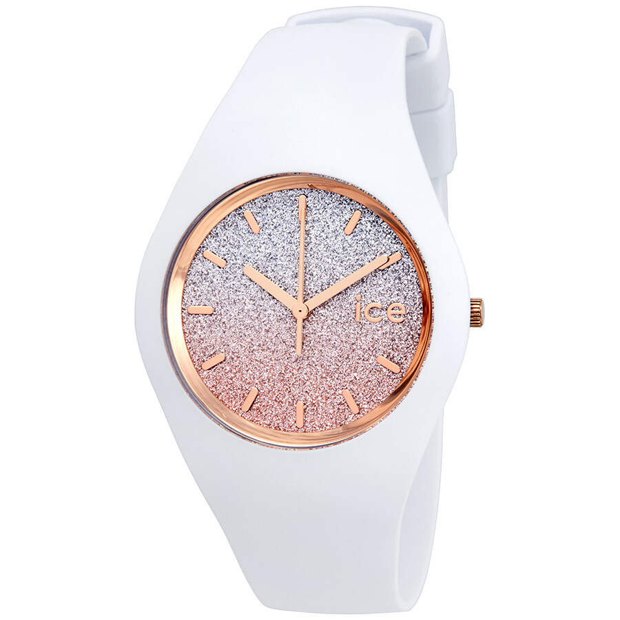 Ice-Watch Lo 40mm Pink- Silver Gradient Glitter Dial Ladies Watch 013431 ... 798cf5f5f884