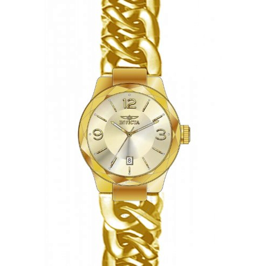 Invicta Angel Champagne Dial Gold-plated Ladies Watch 15407