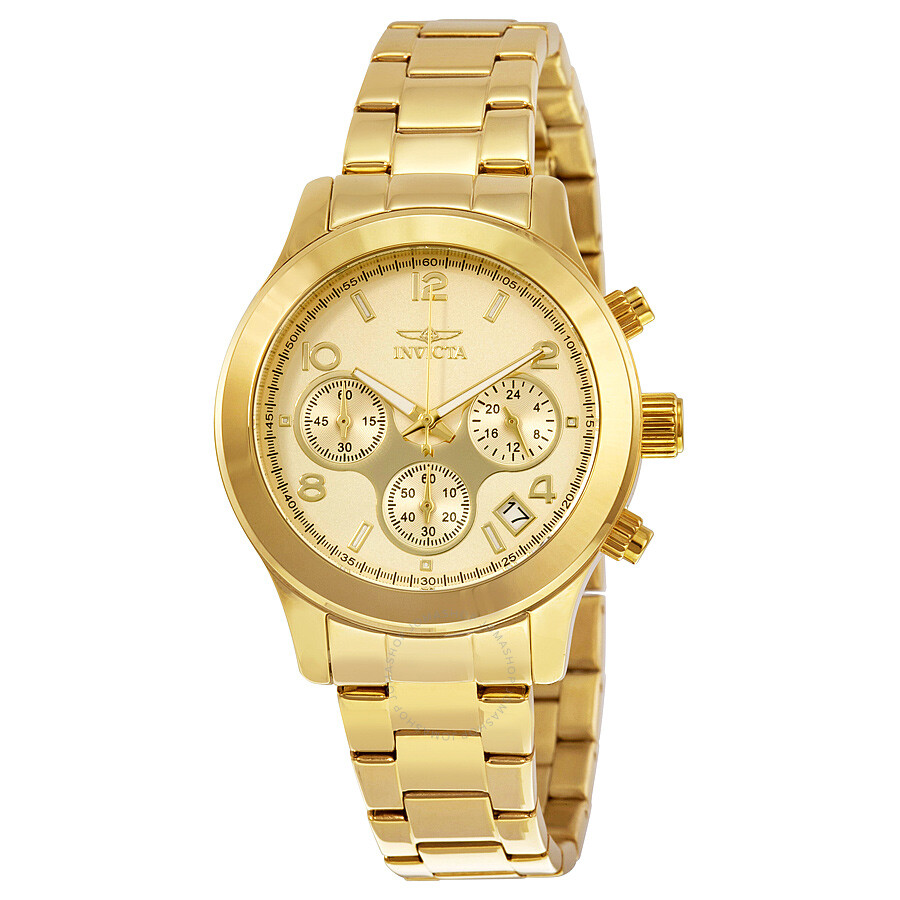 invicta gold gold tone stainless steel