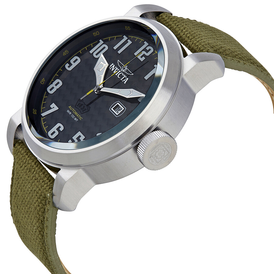 e2ffe31b5 ... Invicta Aviator Automatic Black Carbon Fiber Dial Men's Watch 23073 ...