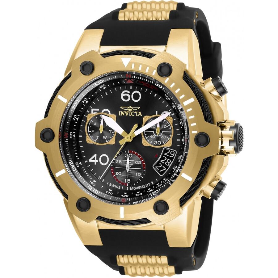 ad1e90d87 Invicta Bolt Chronograph Black Dial Men's Watch 25874 - Bolt ...