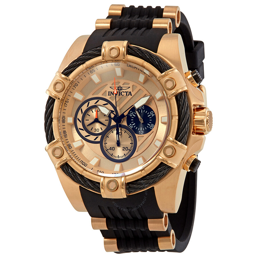 ec450131e Invicta Bolt Chronograph Gold Dial Men S Watch 28014