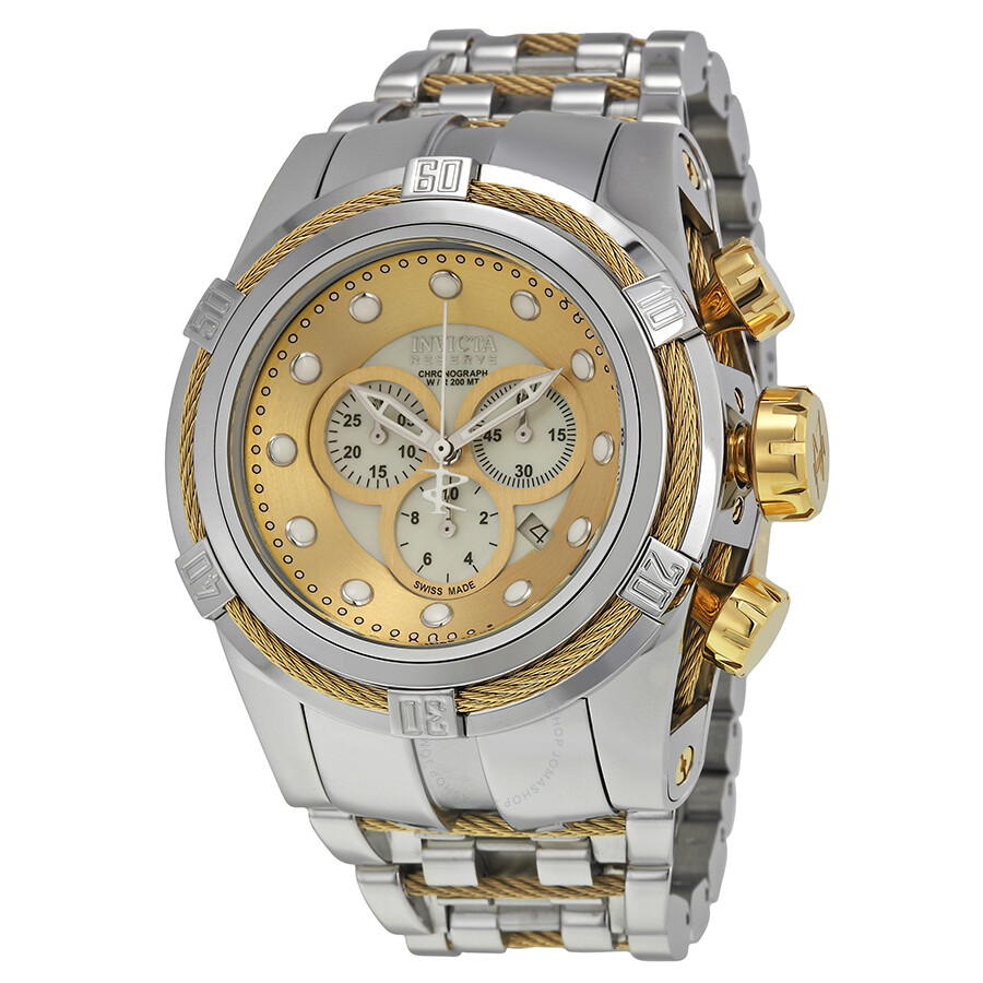 invicta bolt chronograph gold stainless steel s