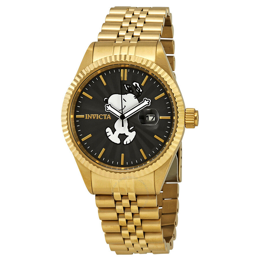 Invicta Character Collection Snoopy Diamond Black Dial Men's Watch 24801