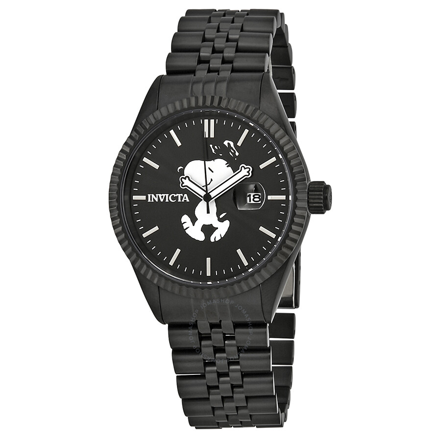 Invicta Character Collection Snoopy Diamond Black Dial Men's Watch 24802