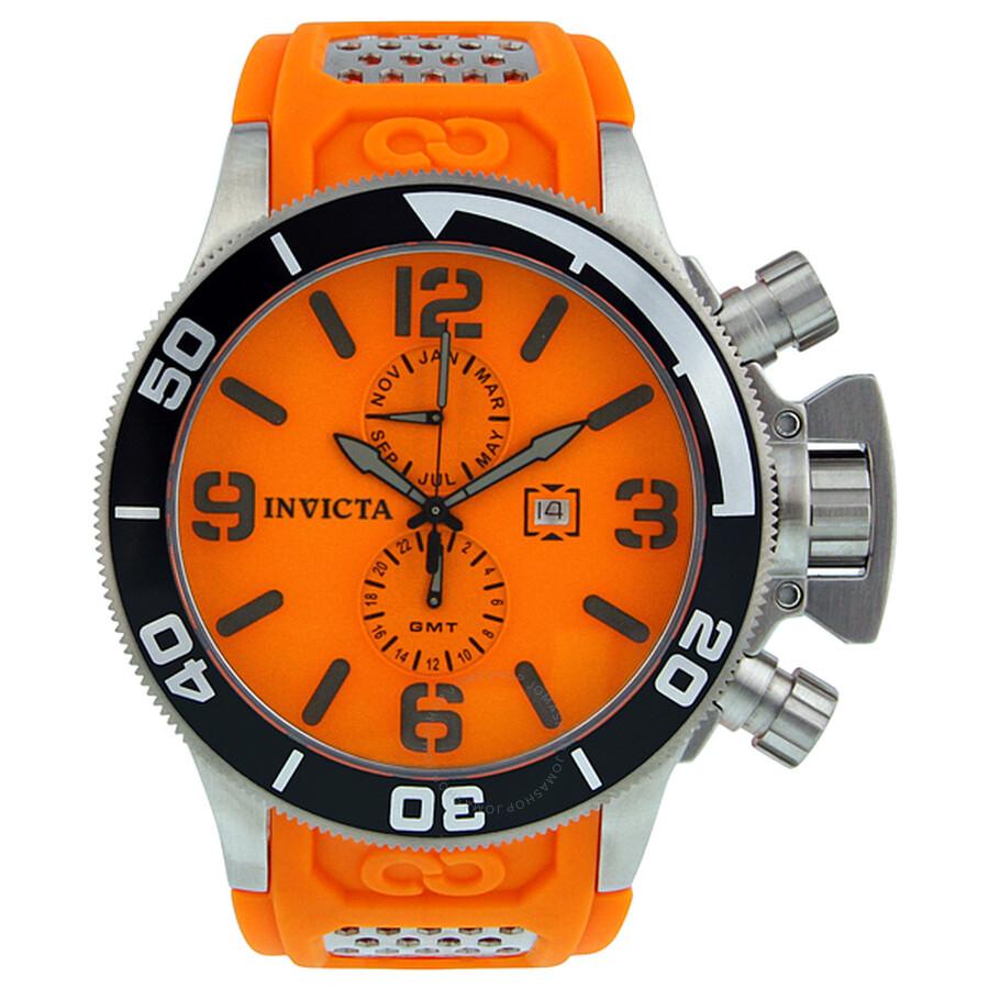 Invicta corduba orange dial orange polyurethane strap men 39 s diver watch 1055 corduba invicta - Orange dive watch ...
