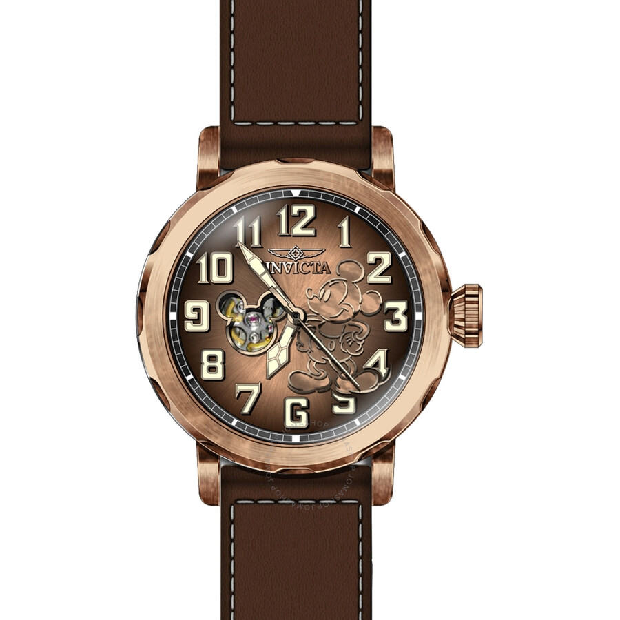 invicta disney limited edition watches jomashop invicta disney limited edition automatic copper dial men s watch