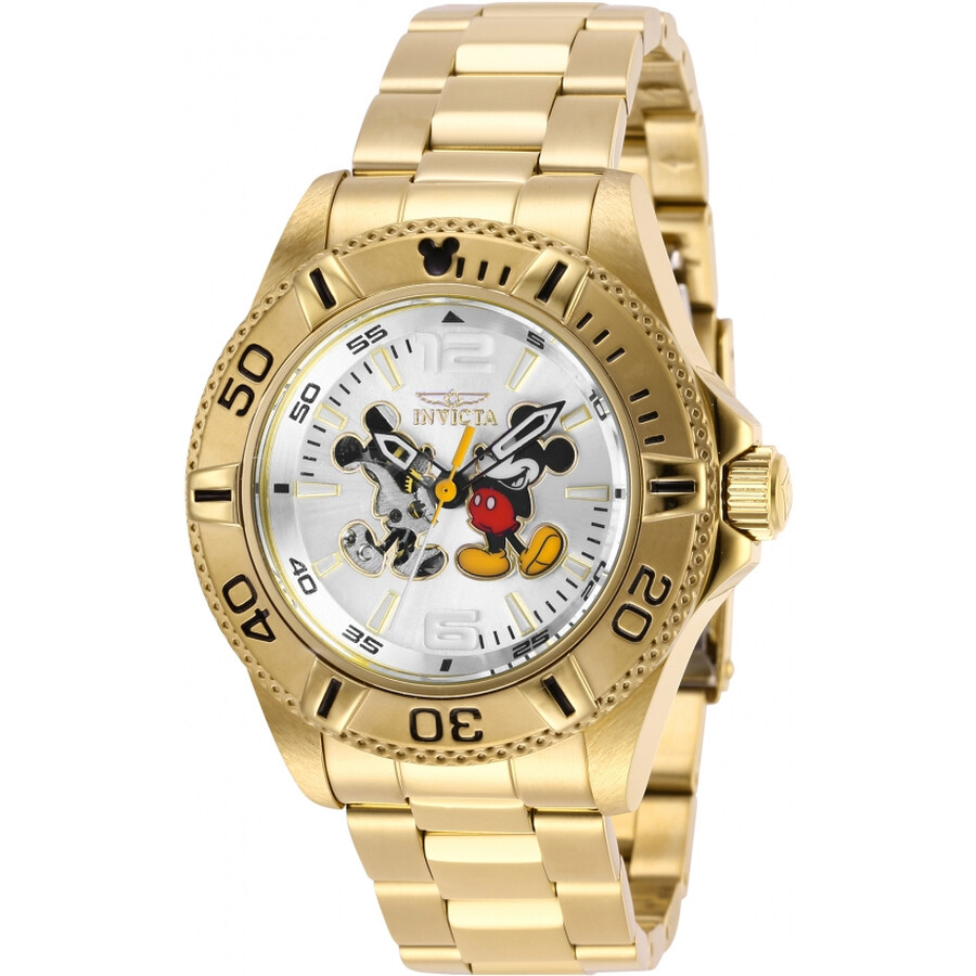 ab3f0c6b31c Invicta Disney Limited Edition Mickey Mouse Automatic Silver Dial Men s  Watch Item No. 27409