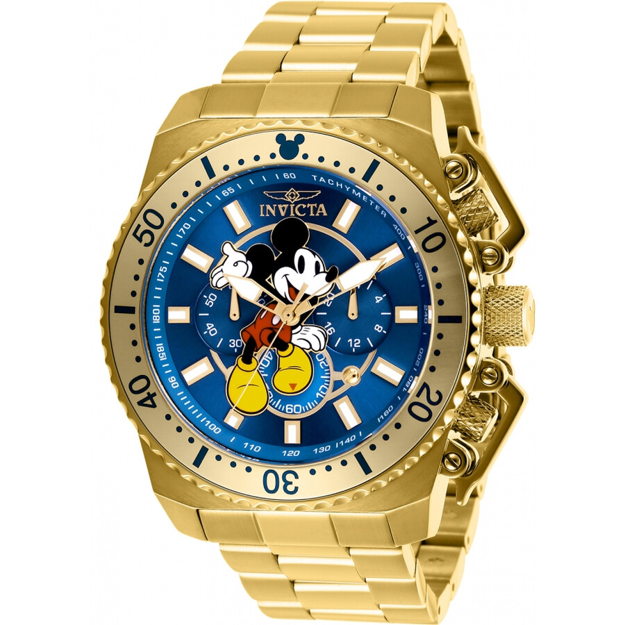 71ca863a0c9 Invicta Disney Limited Edition Mickey Mouse Chronograph Blue Dial Men s  Watch Item No. 27288