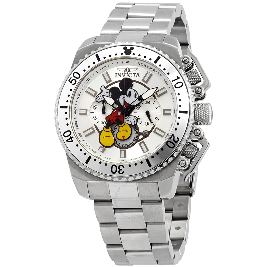 5357600a0f2 Invicta Disney Limited Edition Mickey Mouse Chronograph Silver Dial Men s  Watch Item No. 27287
