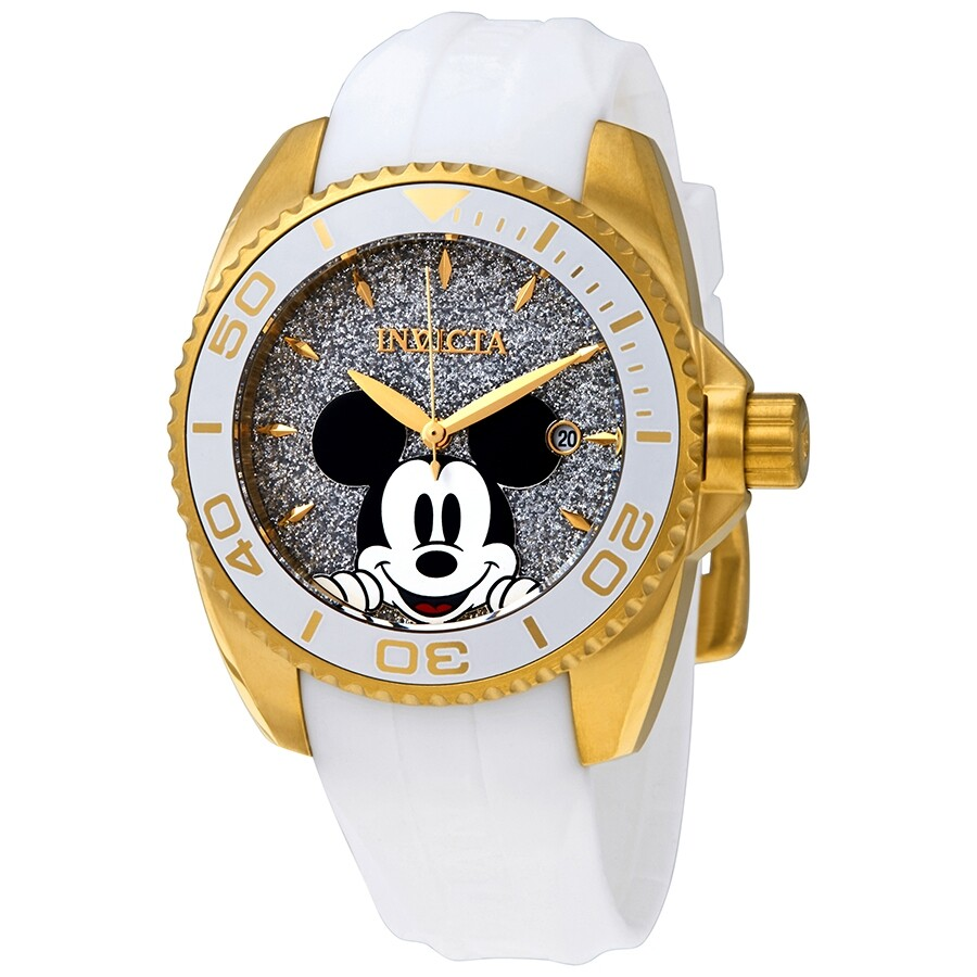 c81b5bace Invicta Disney Limited Edition Mickey Mouse Silver Dial Ladies Watch 27379  ...