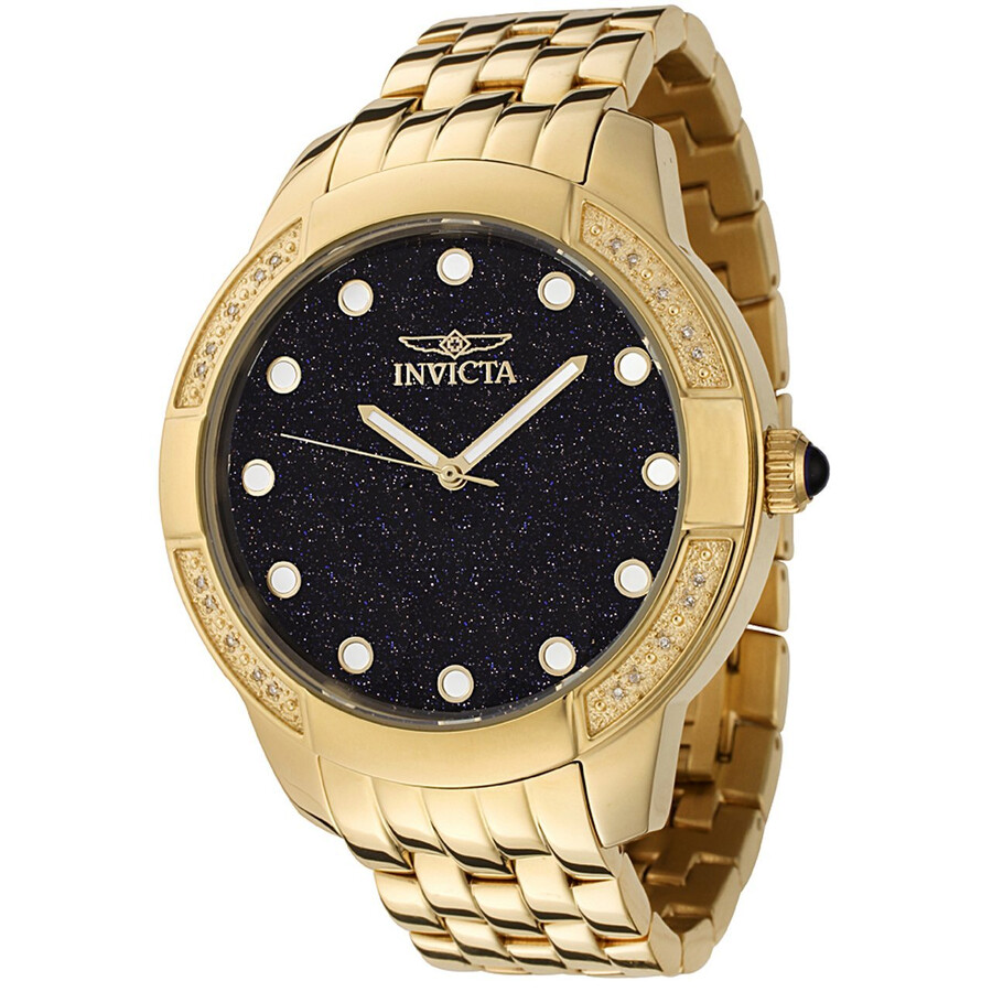 Invicta II Collection Diamond Accented Gold-plated Men's Watch 0050