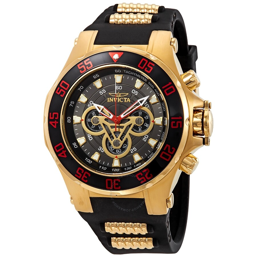 081188f8d5c Invicta Marvel Chronograph Black Dial Men s Watch 25987 - Marvel ...