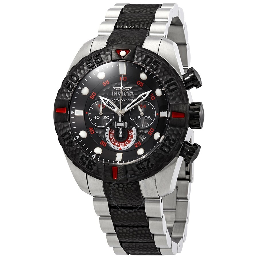 237ed9c06b1 Invicta Marvel Chronograph Black Dial Two-Tone Men s Watch 25984 ...