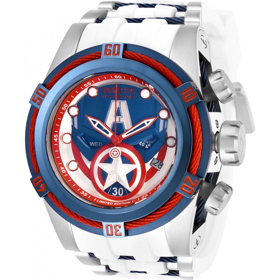 d82b826e28f Invicta Marvel Chronograph Blue Dial Men s Watch 27046 - Marvel ...