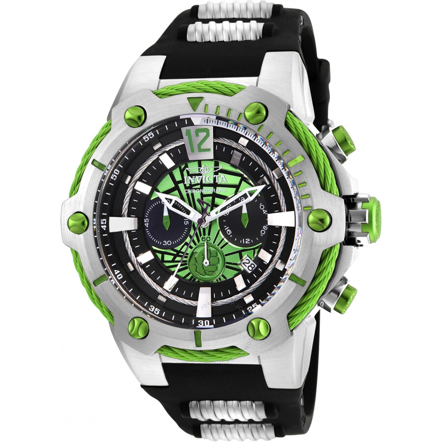0a26ffb393c Invicta Marvel Chronograph Green Dial Men s Watch 25985 - Marvel ...