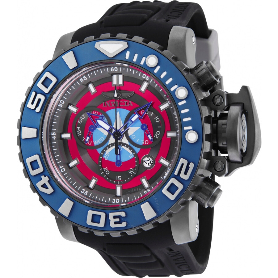 07b20770b75 Invicta Marvel Chronograph Red Dial Men s Watch 25621 - Marvel ...
