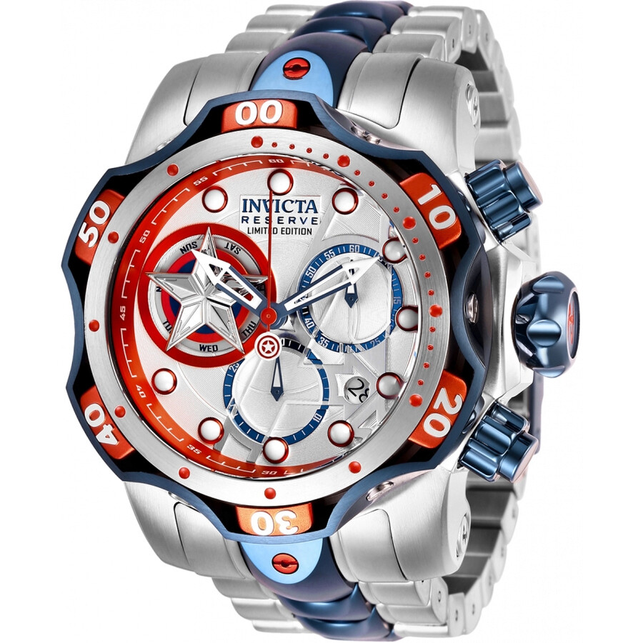 2a070d9c45c Invicta Marvel Chronograph Silver Dial Men s Watch 27039 - Marvel ...
