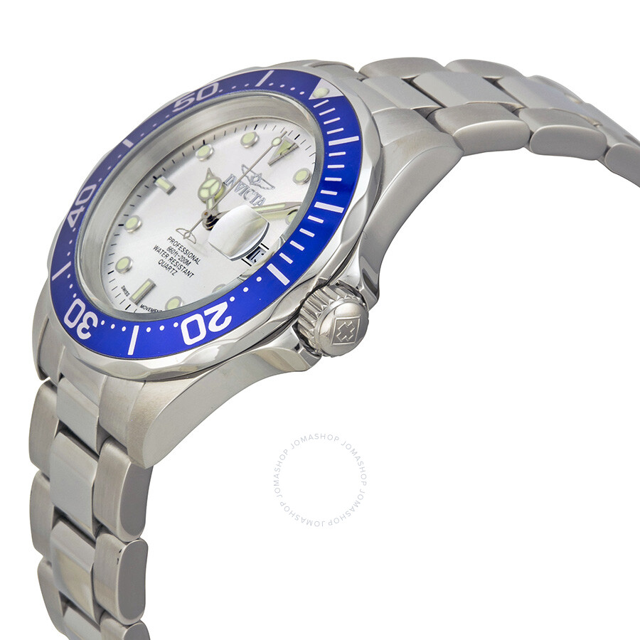 invicta s pro diver swiss quartz with blue bezel