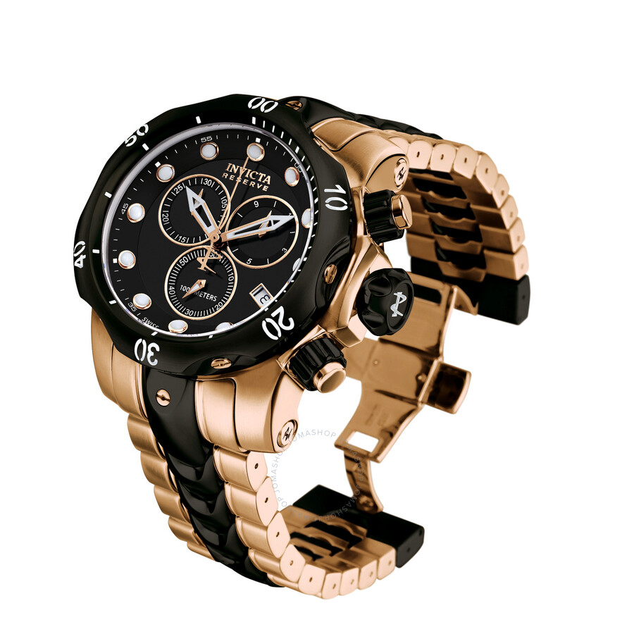 invicta s reserve collection black ion plated and