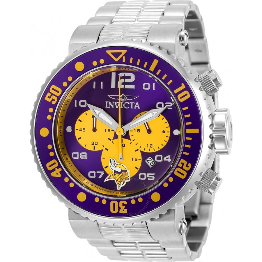 Invicta Nfl Minnesota Vikings Chronograph Quartz Men S Watch 30274