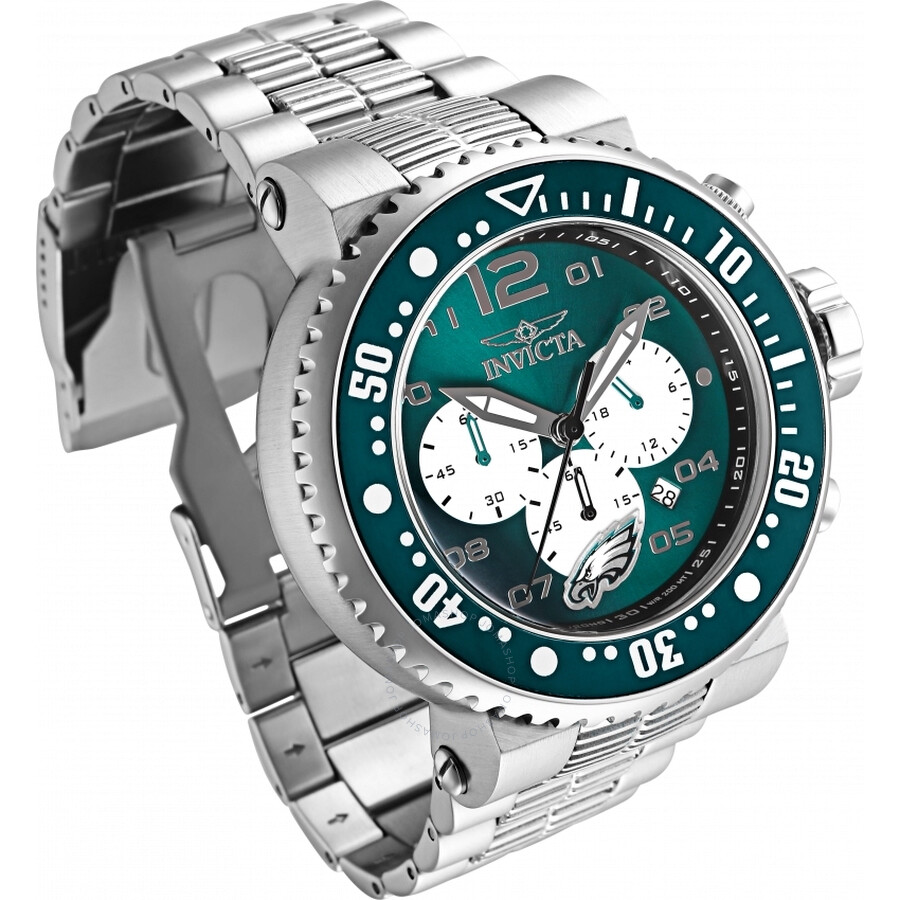 Invicta Nfl Philadelphia Eagles Chronograph Quartz Men S Watch 30280 Nfl Invicta Watches Jomashop