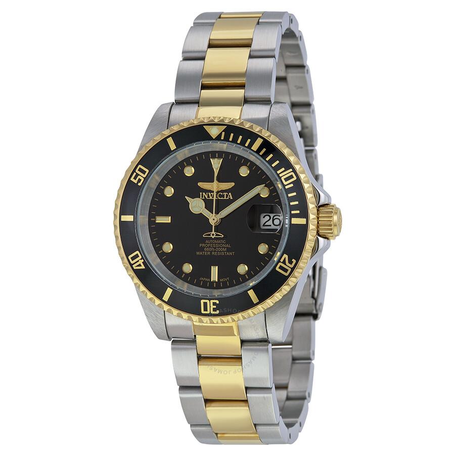 7166fdca4 Invicta Pro Diver Automatic Black Dial Two-tone Men's Watch 8927C Item No.  8927OB