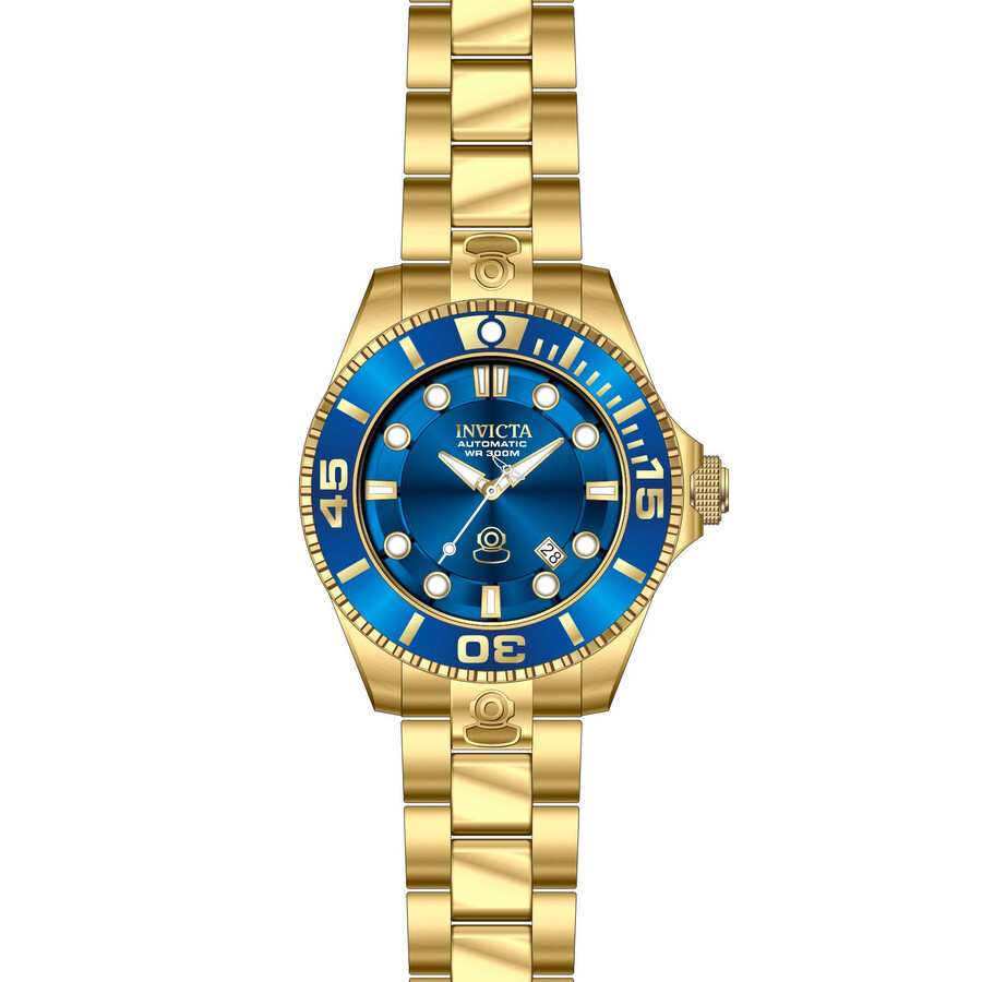 Invicta Pro Diver Automatic Blue Dial Gold-plated Men s Watch Item No. 19806 23a6b87586