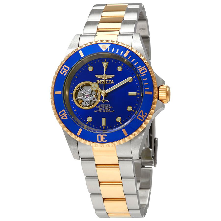 ffa260124 Invicta Pro Diver Automatic Blue Dial Two-tone Watch 21719 - Pro ...