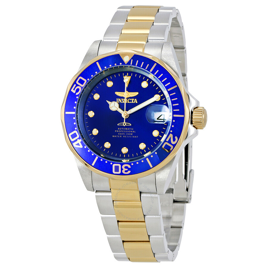 e36ebd3a2 Invicta Pro Diver Automatic Blue Dial Two-tone Stainless Steel Men's Watch  17042 ...