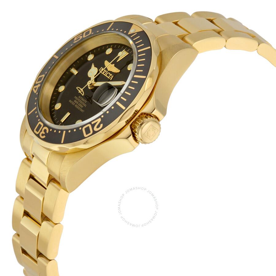 invicta pro diver automatic goldtone mens watch 8929