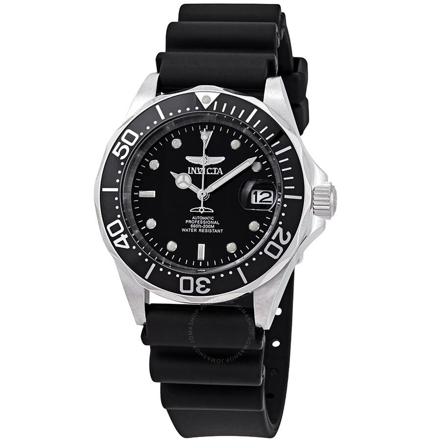2b8e411c31b Invicta Pro Diver Automatic Steel Black Rubber Men s Watch 9110 ...