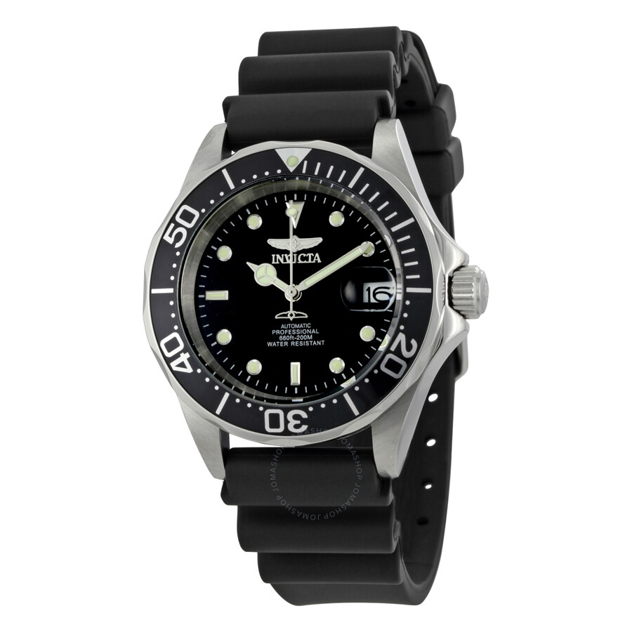 invicta pro diver automatic watches jomashop invicta pro diver automatic steel black rubber men s watch