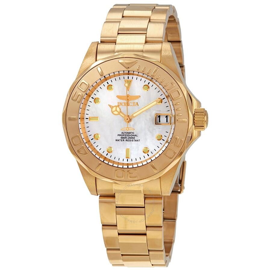 7de390813 Invicta Invicta Pro Diver Automatic White Mother of Pearl Dial Men's Watch  28694 Item No. Invicta