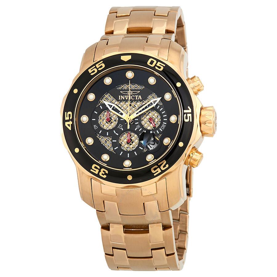 9bf075d9baf Invicta Pro Diver Chronograph Black Dial Men s Watch 25332 - Pro ...
