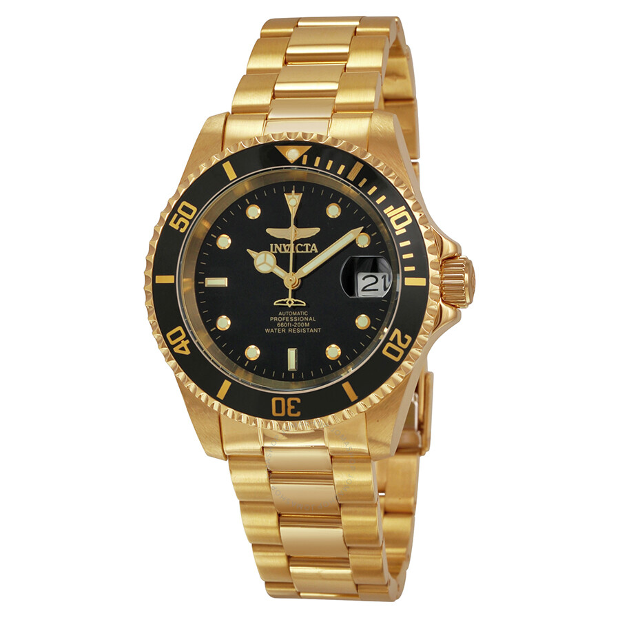 invicta pro diver black gold plated s 8929c